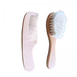 Wooden Baby Brush Hair